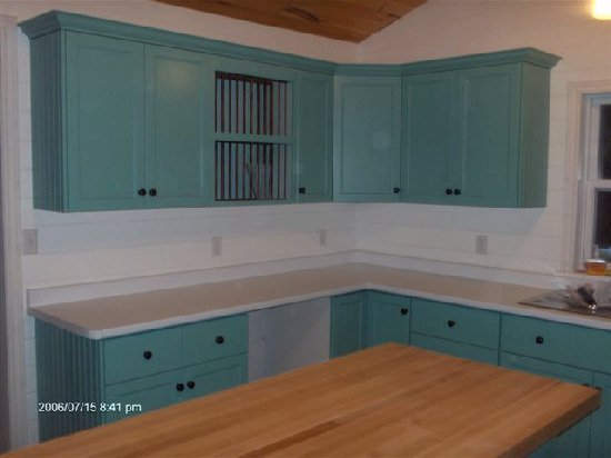 Teal Painted Kitchen Cabinets Painted Kitchens Nice Design